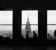Silhouette of a City - Manhatten by Jonathon Speed