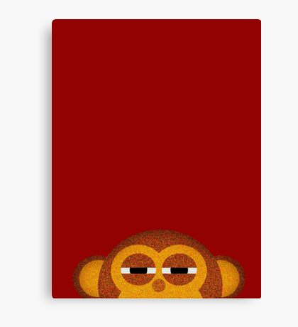 Pocket monkey is highly suspicious Canvas Print