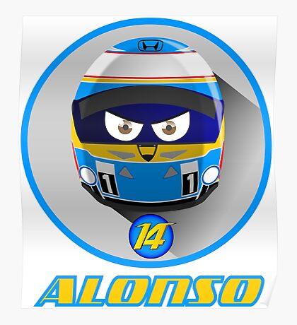 Fernando ALONSO_Helmet 2015 #14 Poster