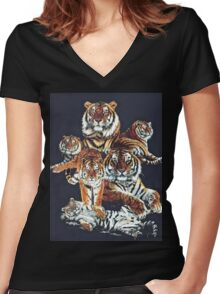 Dynasty Women's Fitted V-Neck T-Shirt