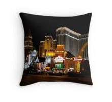 Las Vegas Night Lights Throw Pillow