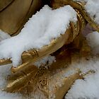Golden hand in snow. by Amanda Gazidis