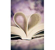 I Heart Books Photographic Print
