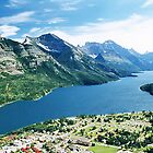 Waterton Township & Upper Waterton Lake, Alberta, Canada by Adrian Paul