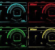 Nikon x 4 (PopArt) by CreativeEm