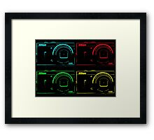 Nikon x 4 (PopArt) Framed Print