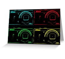Nikon x 4 (PopArt) Greeting Card