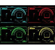 Nikon x 4 (PopArt) Photographic Print