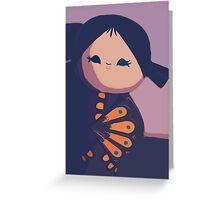 Happy Geisha Greeting Card