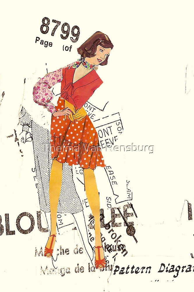 lady with red shoes, 2010 by Thelma Van Rensburg