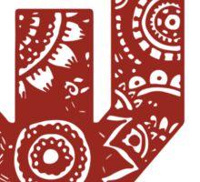 University of Oklahoma Zentangle Logo Sticker