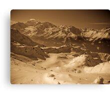 Verbier: Golden Moments of a Ski Adventure Canvas Print