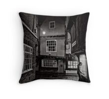 Tucking history away for the night Throw Pillow