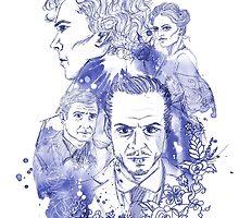 Sherlock Holmes Illustration by ruthjoyceart