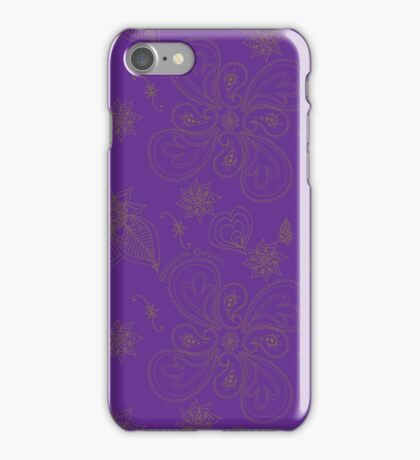 Pure Violet Paisleys iPhone Case/Skin