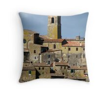 Tuscan Hill Town - Italy Throw Pillow