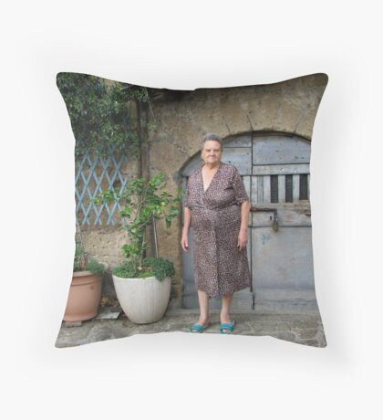Nonna - Tuscany, Italy Throw Pillow