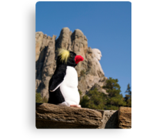 Presidential Penguin at Mount Rushmore Canvas Print