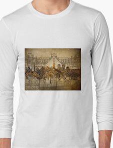 paris skyline abstract 9 Long Sleeve T-Shirt