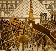 paris skyline abstract 9 Sticker