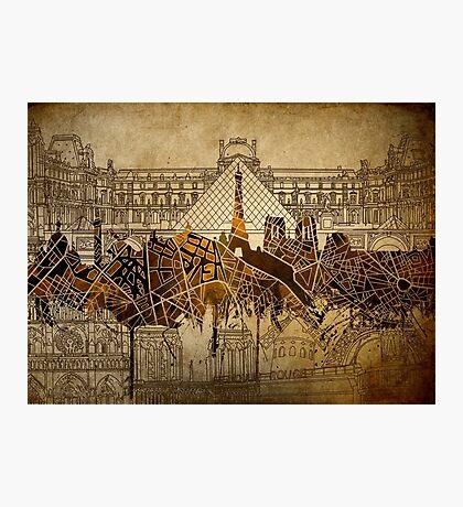 paris skyline abstract 9 Photographic Print