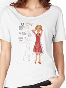 red dress  Women's Relaxed Fit T-Shirt