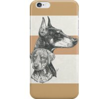 Doberman (cropped), Father & Son iPhone Case/Skin