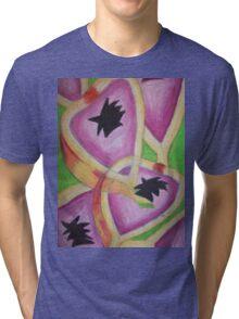 Retro Style Passionfruit Tri-blend T-Shirt