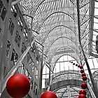 Red Balls - BCE Place, Toronto by Ken  Yan