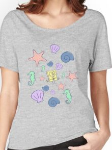 "SpongeBob SquarePants - ""Under the Sea"" Classic Design Women's Relaxed Fit T-Shirt"