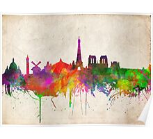 paris skyline abstract 10 Poster