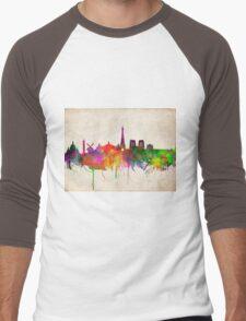 paris skyline abstract 10 Men's Baseball ¾ T-Shirt
