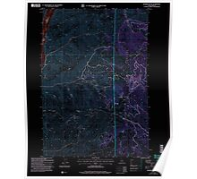 USGS Topo Map Idaho Monroe Butte 237205 2004 24000 Inverted Poster