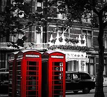 Red Telephone Boxes by Wellb69Images