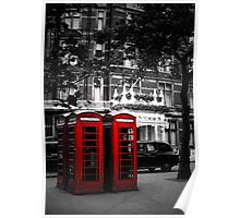 Red Telephone Boxes Poster