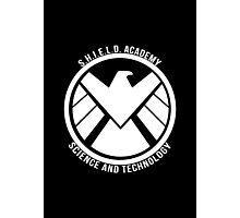S.H.I.E.L.D. Academy Sci-Tech (White) Photographic Print