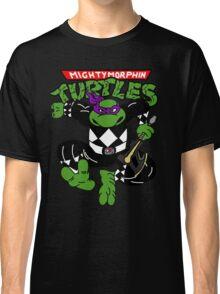 Mighty Morphin Turtles Donatello Black Ranger Classic T-Shirt