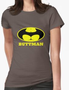 Buttman geek funny nerd Womens Fitted T-Shirt