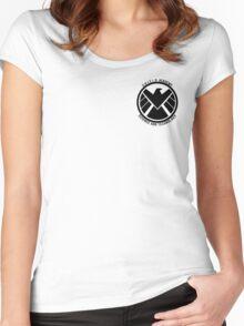 S.H.I.E.L.D. Academy Sci-Tech (Black) Women's Fitted Scoop T-Shirt