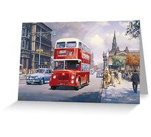 Endinburgh Princes Street Greeting Card