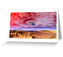 """SPIRAL CLOUDS AND DREAMS"" Greeting Card"