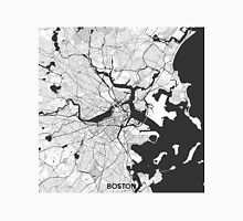 Boston Map Gray Unisex T-Shirt