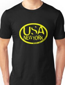 usa new york tshirt yellow by rogers bros co T-Shirt
