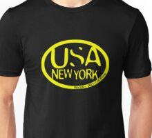usa new york tshirt yellow by rogers bros co Unisex T-Shirt