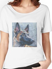 Belgian Malinois Fine Art Painting Women's Relaxed Fit T-Shirt