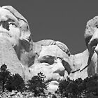 Three Presidents at Mount Rushmore  by Alex Cassels