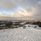 Norwich in the Snow from St. James's Hill by Gerry  Balding