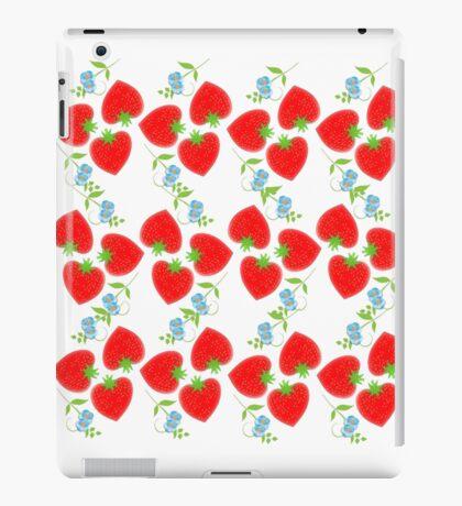 Sweet Summer Fresh Red Strawberries iPad Case/Skin