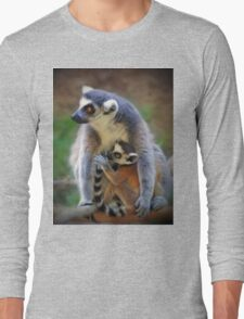 Mother and Baby Monkey Long Sleeve T-Shirt