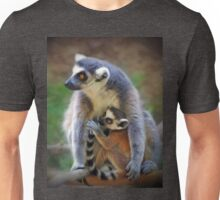 Mother and Baby Monkey Unisex T-Shirt